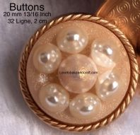 Set of Pearl jacket buttons, Pearl buttons, Pearl dome buttons,  Free worldwide shipping